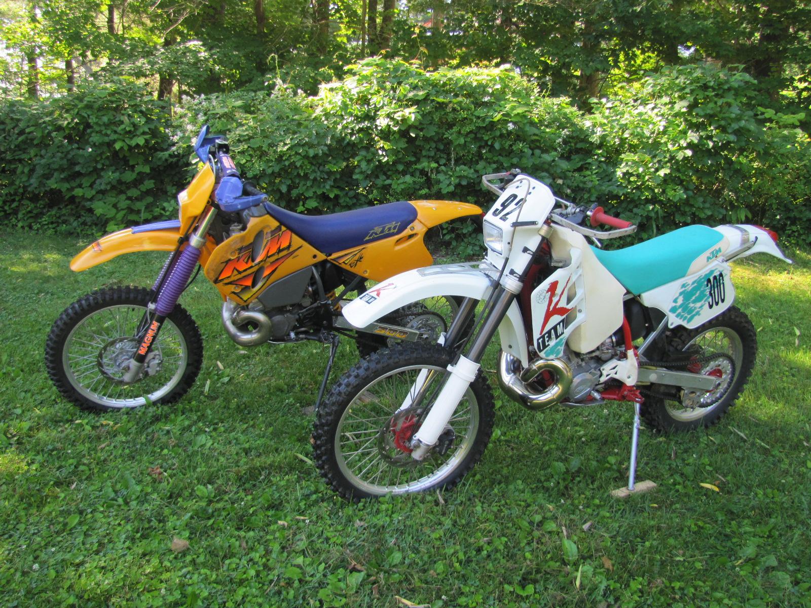 92 and 96 KTM 300exc.JPG