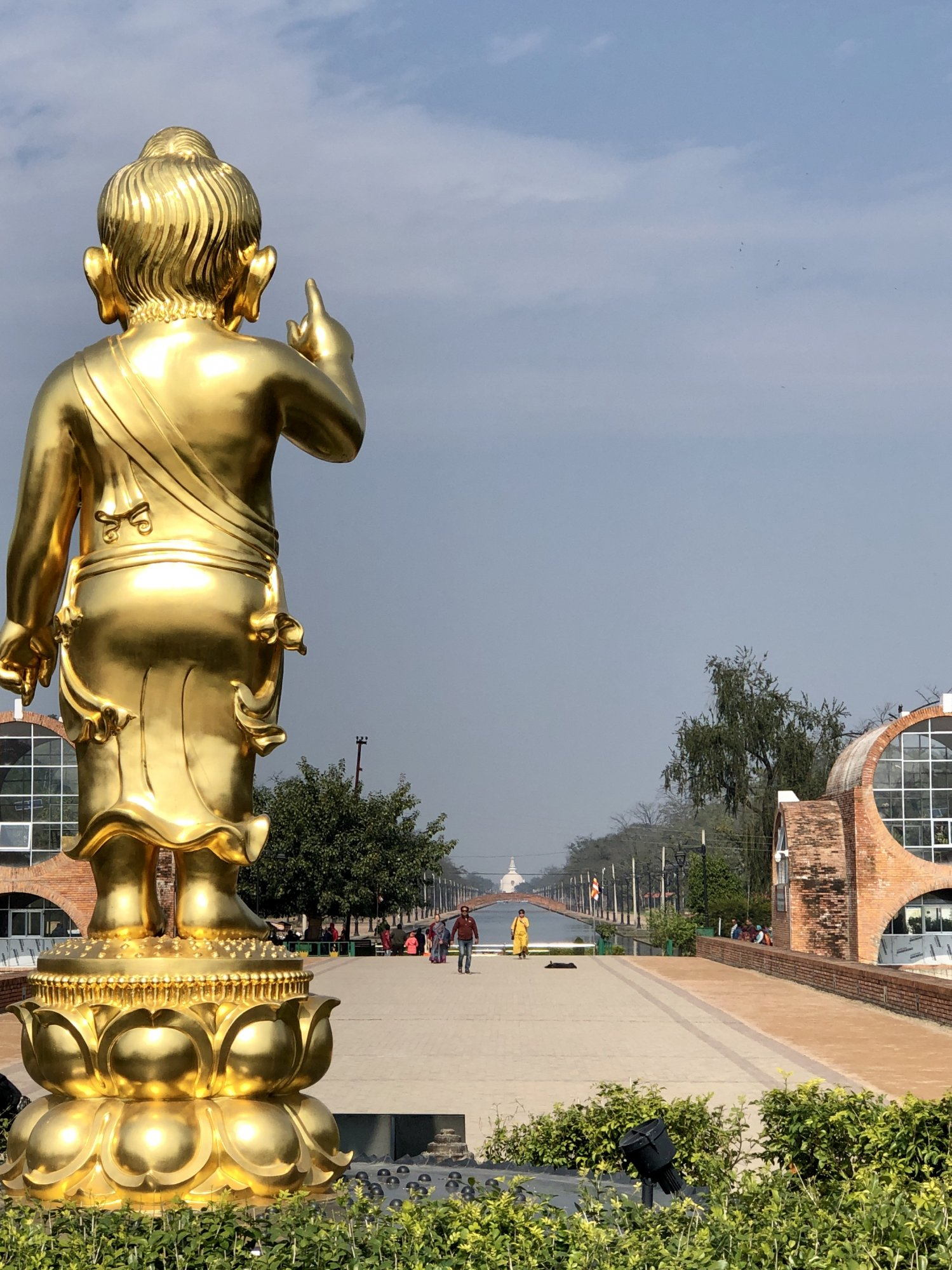 *Buddha Birth Place Boy Statue looking at Peace Pagoda IMG_6564.jpg