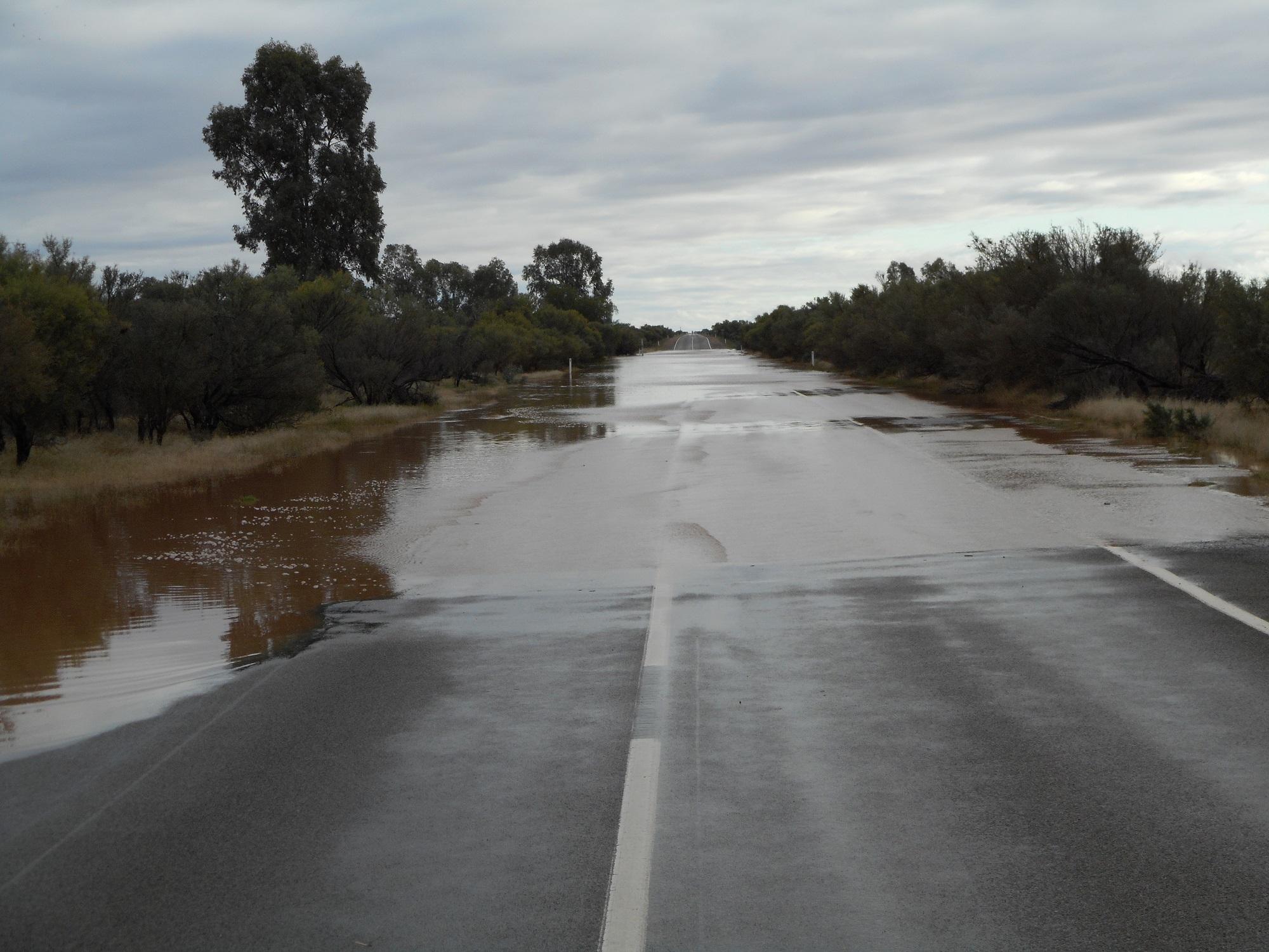 Flooded road north of Hawker.JPG