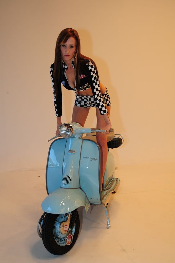scooter girl in checks.jpg