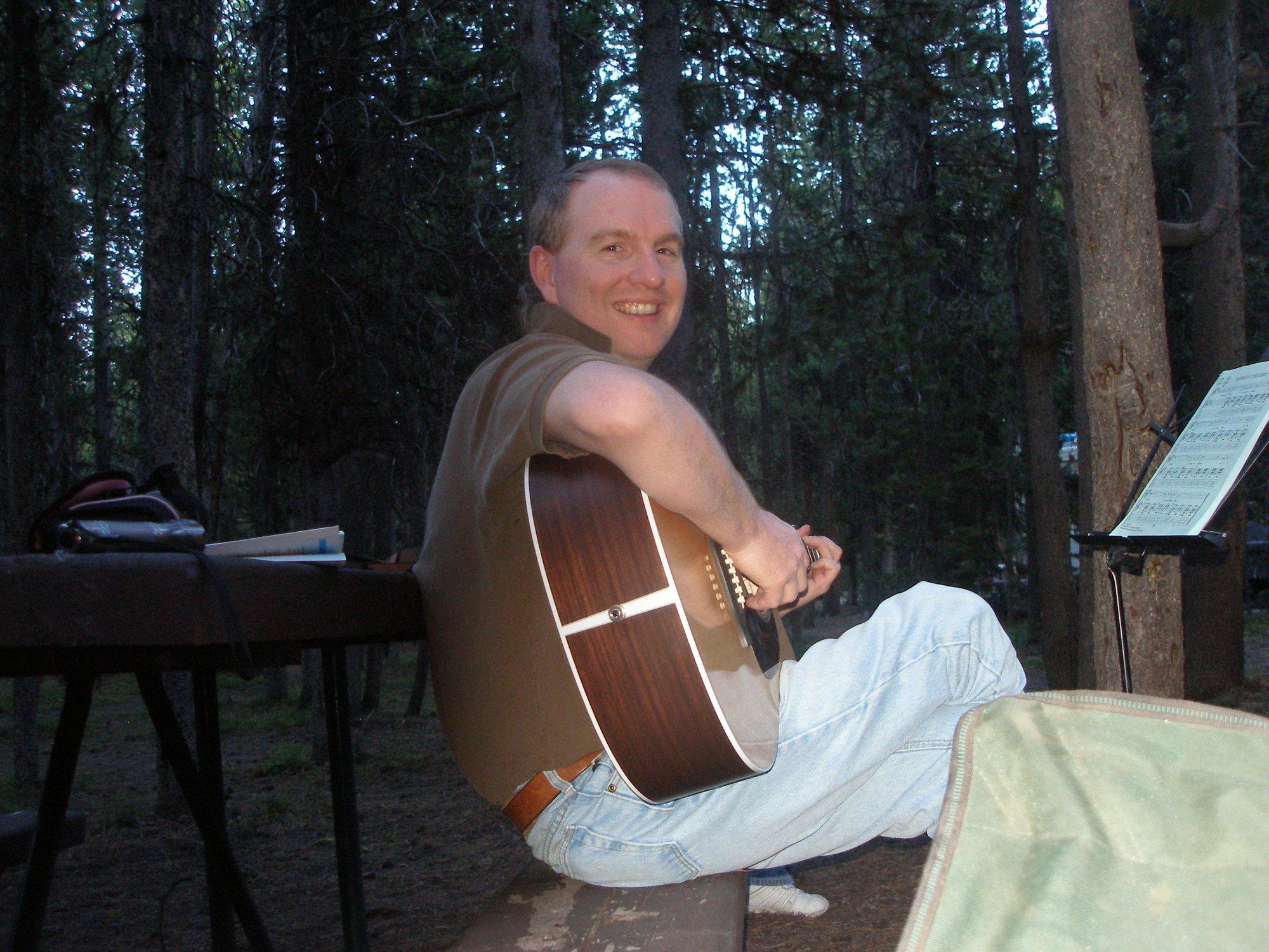 Yellowstone Michael on guitar.JPG