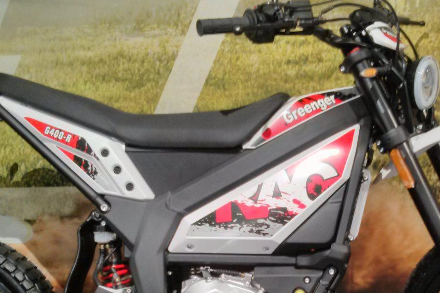 Detail on the Greenger G400-R electric dirt bike