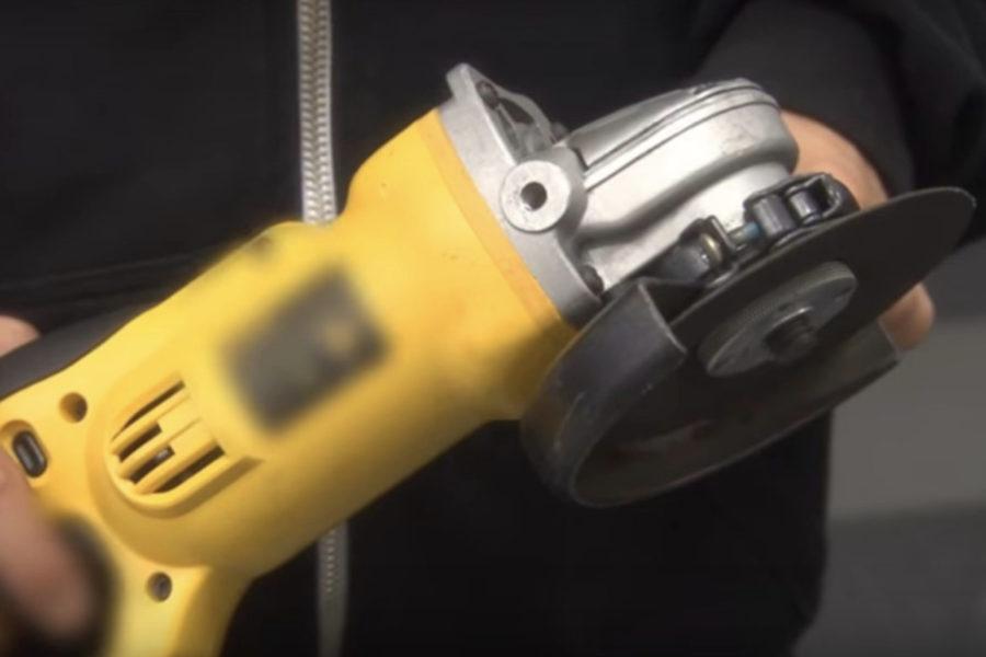 Angle grinder, theft, lock