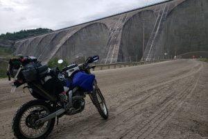 "The ""adventure"" part of the ride begins at the Manic 5 hydro dam. Photo: Zac Kurylyk"