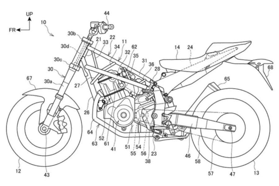 Honda's Patent Drawing