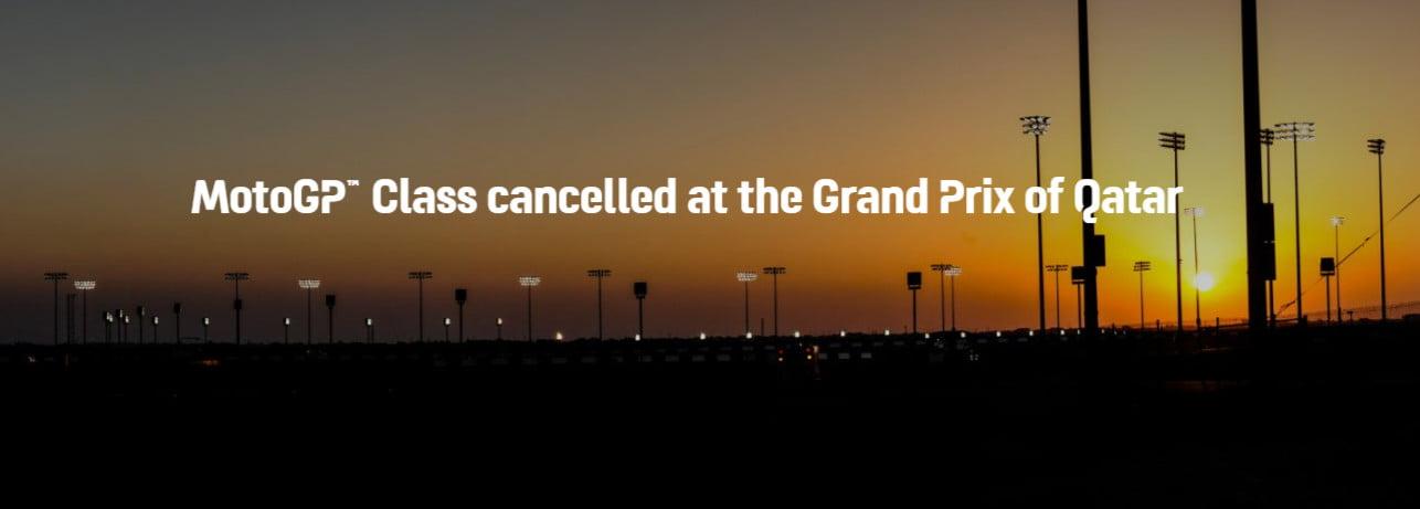 The Qatar GP round is canceled. Photo: MotoGP