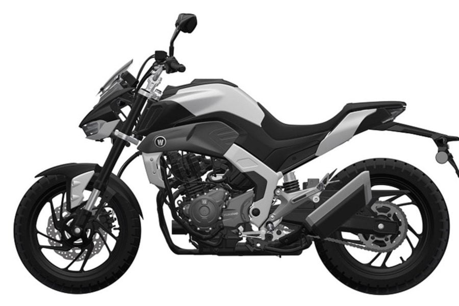 The Haojue DR300 is an updated Suzuki design. Photo: Haojue