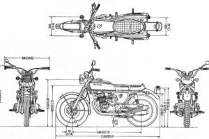 moto dimensions capacities