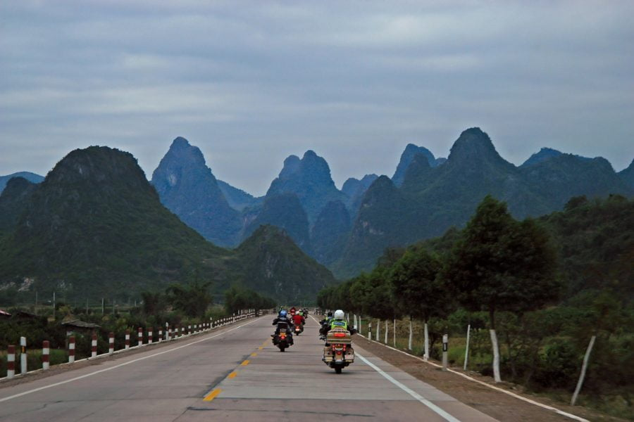 Harleys in China