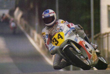Kevin Scwhantz racing Macau in 1988.