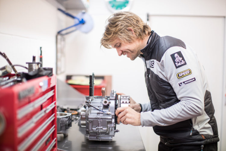 Rebuilding an engine in my workshop.