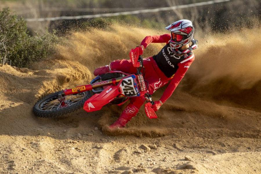 Tim Gajser wrapped up the 2020 MXGP championship a race early. Photo: Honda