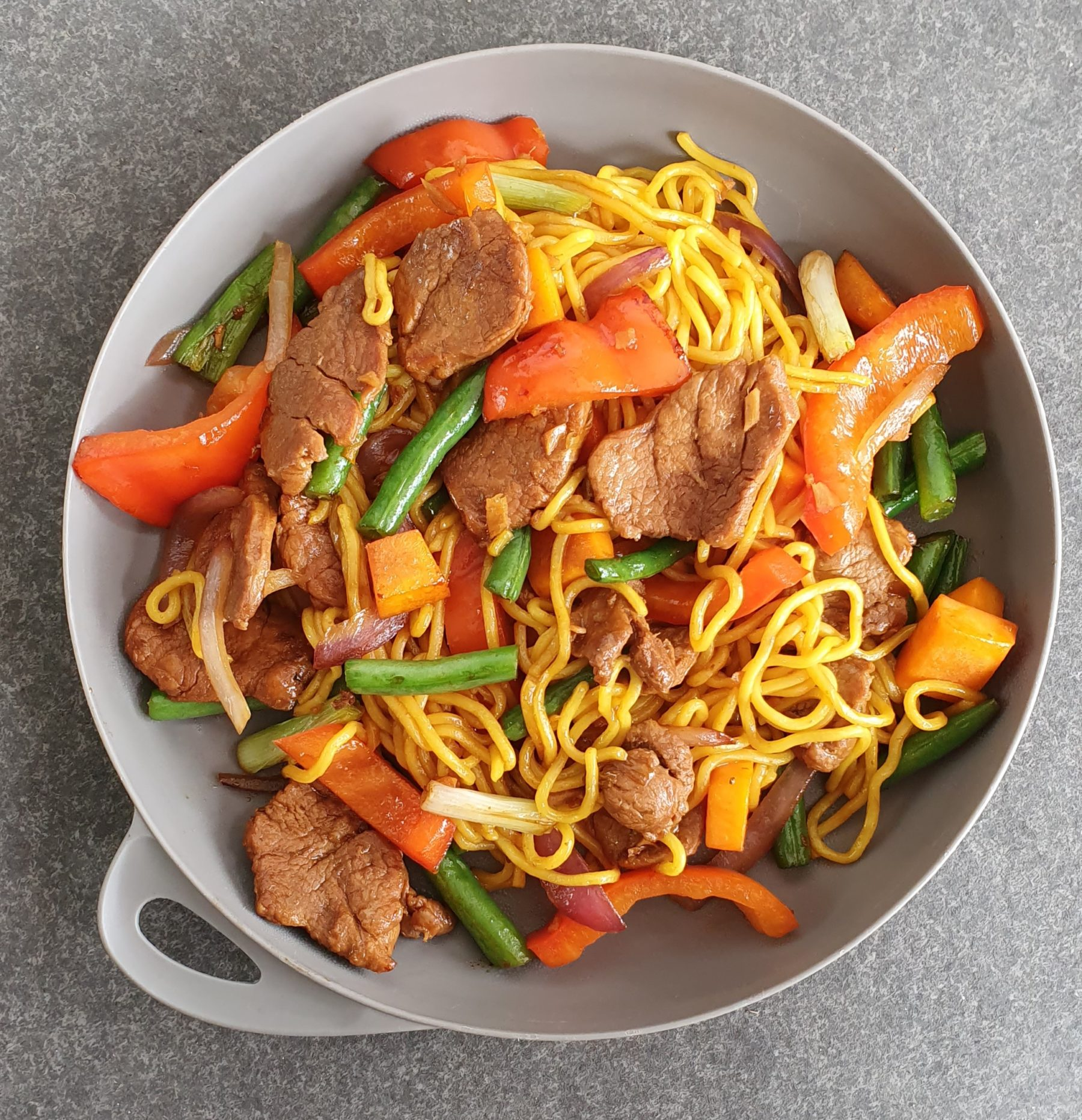 Chilli Ginger Pork Noodles Photo @Kylie Day