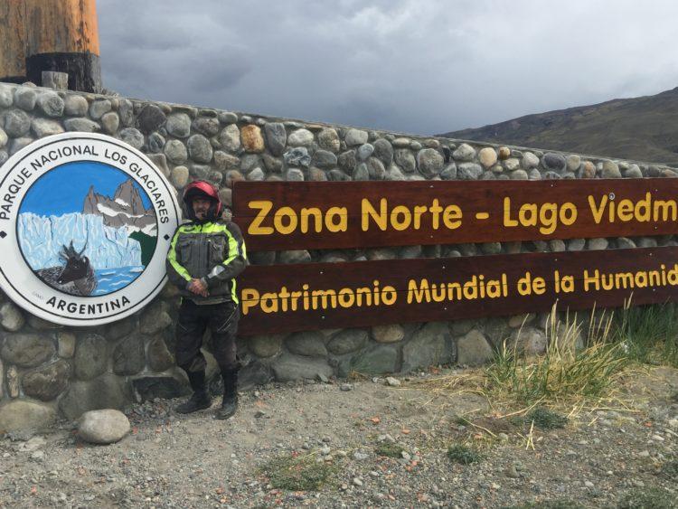 Tierra del Fuego Argentina to Santiago Chile. Translation: Glacier National Park, Humanity World Heritage Site.