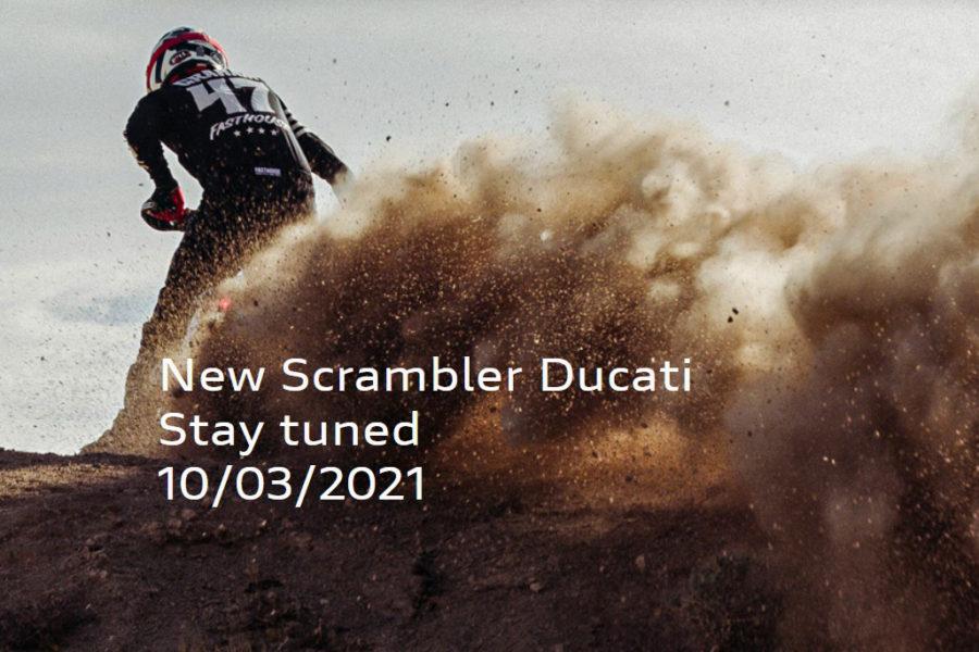 Ducati's website teases a new dirt-friendly Scrambler. Photo: Ducati