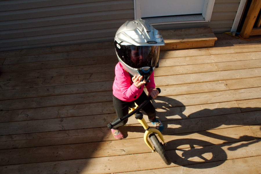 ATGATT on the back deck. Photo: Zac Kurylyk