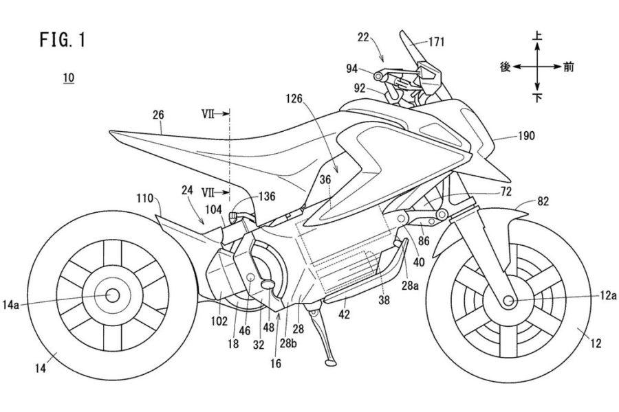Honda Electric Minibike Patent Image Credit: CycleWorld.com