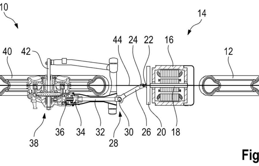 BMW Electric Bike Patent Drawing
