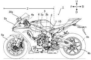 Yamaha R1 Patent Drawing